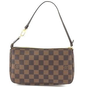 Pochette Be Brown Damier Ébène Canvas Clutch